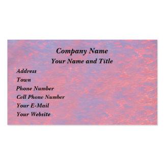 Salida del sol vibrante rosada tarjetas personales