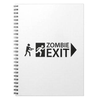 Salida del zombi libro de apuntes