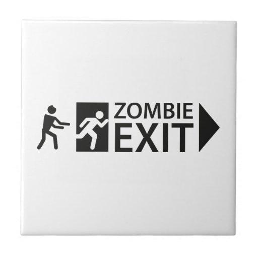 Salida del zombi tejas  cerámicas