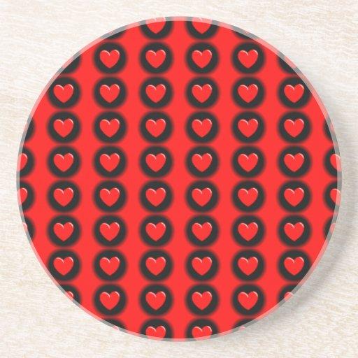 Salida roja y negra posavasos personalizados