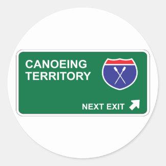 Salida siguiente Canoeing Pegatina Redonda