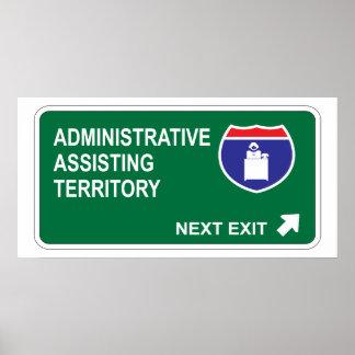 Salida siguiente de ayuda administrativa impresiones