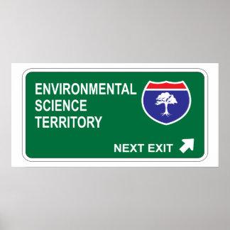 Salida siguiente de la ciencia ambiental posters