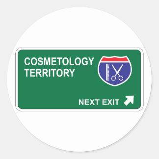 Salida siguiente de la cosmetología pegatinas