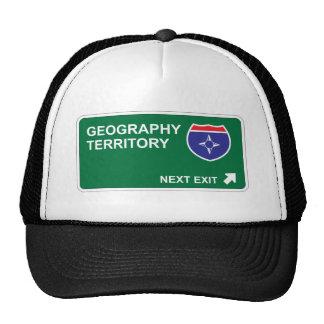 Salida siguiente de la geografía gorros