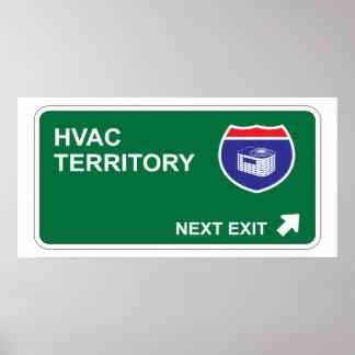 Salida siguiente de la HVAC Poster