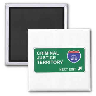 Salida siguiente de la justicia penal imán cuadrado