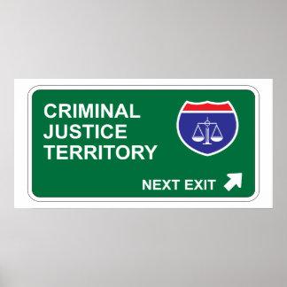 Salida siguiente de la justicia penal impresiones