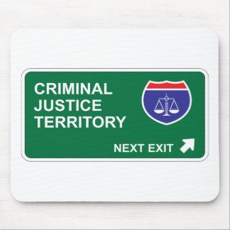 Salida siguiente de la justicia penal tapete de ratones