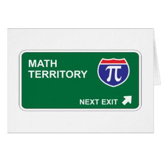 Salida siguiente de la matemáticas tarjeta de felicitación