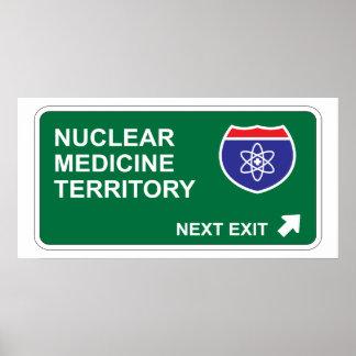 Salida siguiente de la medicina nuclear póster