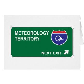Salida siguiente de la meteorología tarjeta de felicitación