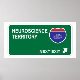 Salida siguiente de la neurología póster