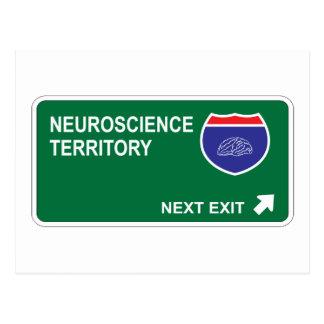Salida siguiente de la neurología tarjetas postales