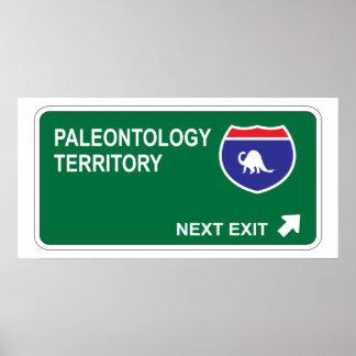 Salida siguiente de la paleontología poster