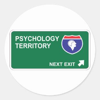 Salida siguiente de la psicología etiqueta redonda