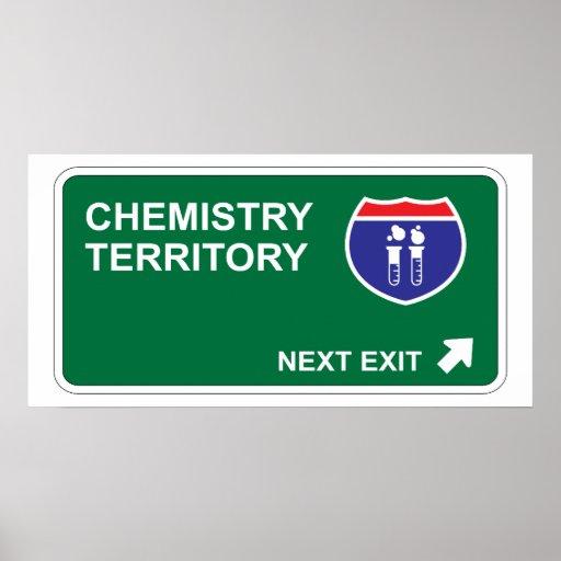 Salida siguiente de la química póster