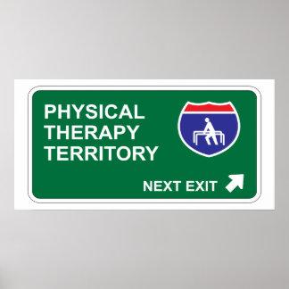 Salida siguiente de la terapia física poster