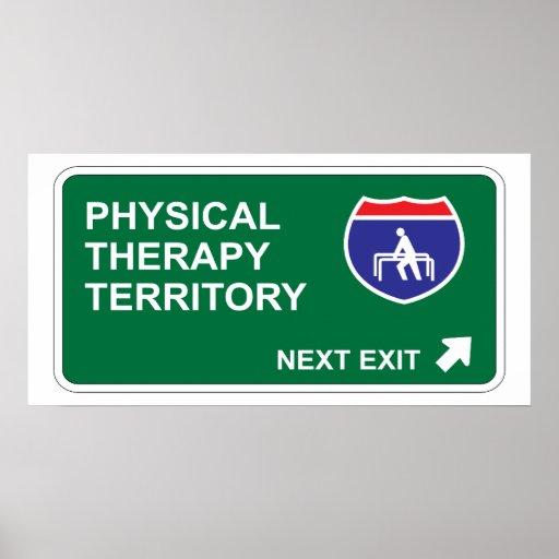 Salida siguiente de la terapia física póster