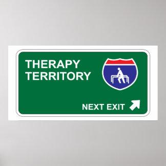 Salida siguiente de la terapia poster