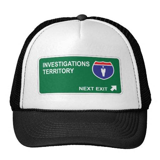Salida siguiente de las investigaciones gorras de camionero