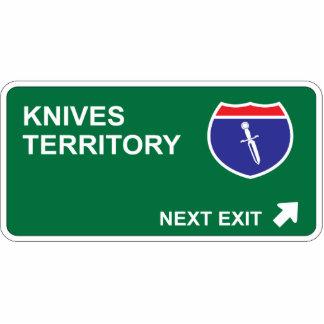 Salida siguiente de los cuchillos escultura fotográfica