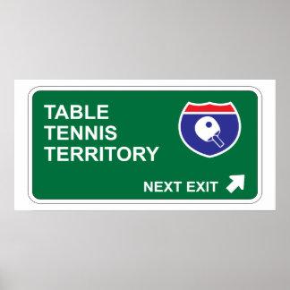 Salida siguiente de los tenis de mesa póster