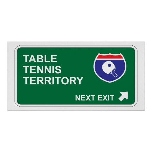 Salida siguiente de los tenis de mesa posters
