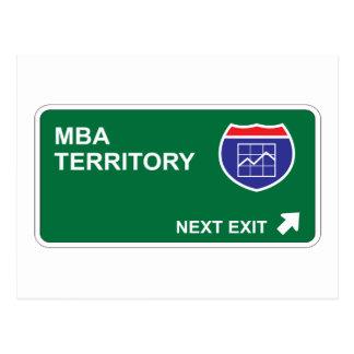 Salida siguiente de MBA Tarjeta Postal