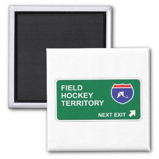 Salida siguiente del hockey hierba imán de frigorífico
