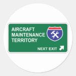 Salida siguiente del mantenimiento de aviones pegatinas