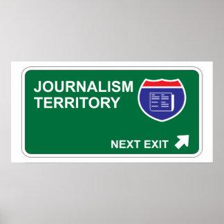 Salida siguiente del periodismo póster