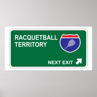 Salida siguiente del Racquetball Posters