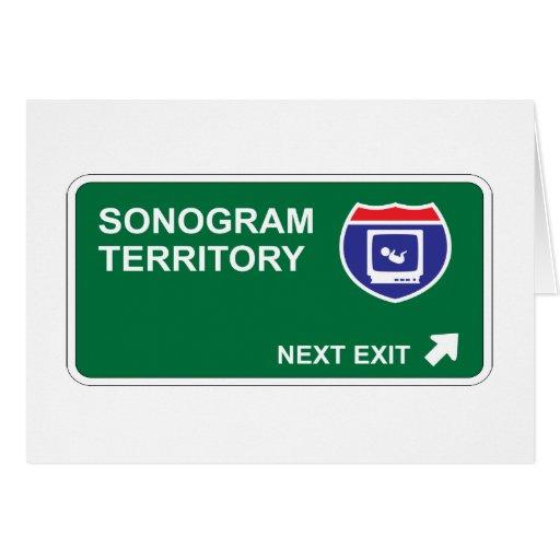 Salida siguiente del Sonogram Tarjeta De Felicitación