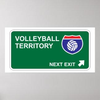 Salida siguiente del voleibol póster