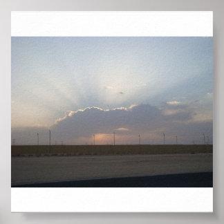 Salidas del sol 001 del trabajo de Doha Póster