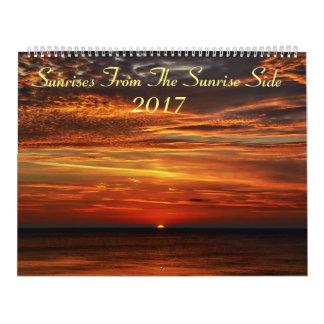 Salidas del sol de la cara 2017 de la salida del calendarios