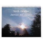 Salidas del sol y puestas del sol calendarios de pared