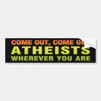 Salido, salidos ateos dondequiera que usted sea etiqueta de parachoque
