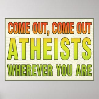 Salido, salidos ateos dondequiera que usted sea impresiones