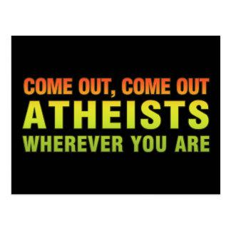 Salido, salidos ateos dondequiera que usted sea postal