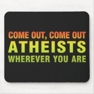 Salido, salidos ateos dondequiera que usted sea alfombrilla de ratones