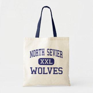 Salina media Utah de los lobos del norte de Sevier Bolsas De Mano