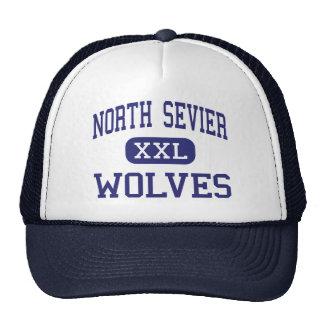Salina media Utah de los lobos del norte de Sevier Gorros Bordados