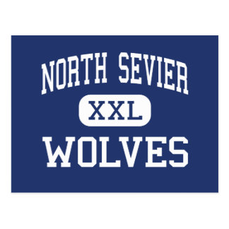 Salina media Utah de los lobos del norte de Sevier Tarjeta Postal