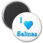 Salinas -- Azul de cielo Iman Para Frigorífico