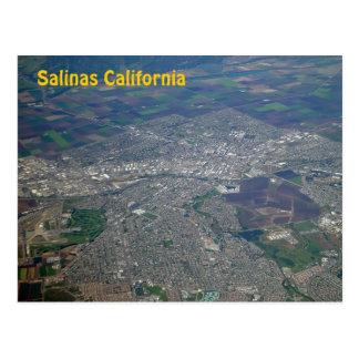 Salinas, California Aerial View Postcard