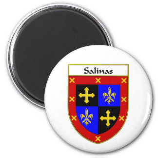 Salinas Coat of Arms/Family Crest Refrigerator Magnet