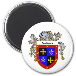 Salinas Coat of Arms/Family Crest (Mantled) Magnet