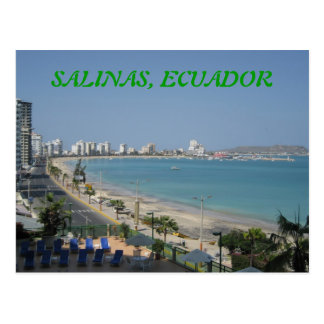 SALINAS, ECUADOR TARJETAS POSTALES